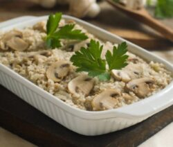 Barley and Mushroom Casserole