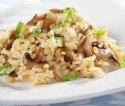 mushroom baked rice