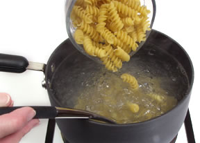 cooking pasta - add to water