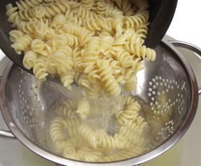 pasta draining