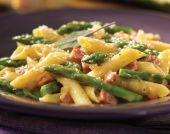 Pennette with Pancetta and Asparagus