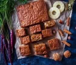 Healthier pineapple carrot cake