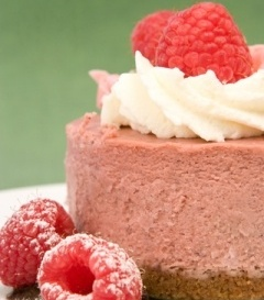 Raspberry Mousse Pie | Raspberry Bavarian | Cookingnook.com