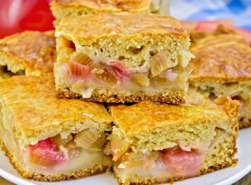 Rhubarb Cake Easy Cake Recipes Apple Cake Pear Cake Cookingnook Com
