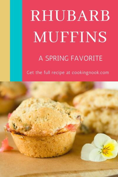 rhubarb muffins pinterest image