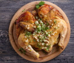 Split roast chicken recipe