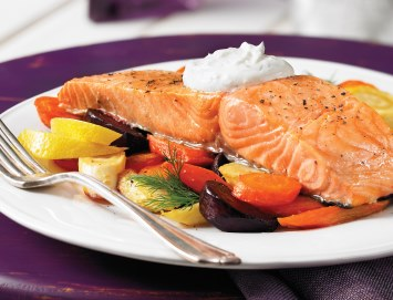 Roasted Salmon one pan meal