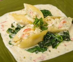 seafood pasta recipe - stuffed shells