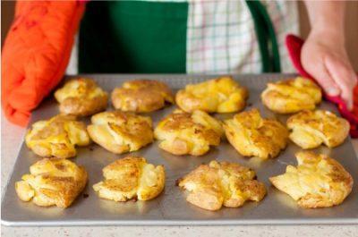 smashed potatoes baked