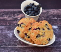 Soft chocolate chip blueberry cookies