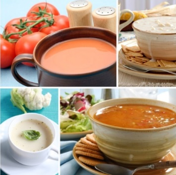 A variety of soup recipes
