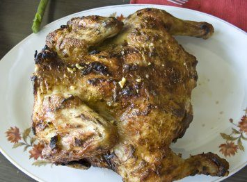 marinated split roast chicken