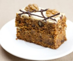 Sugar Free Carrot and Date Cake