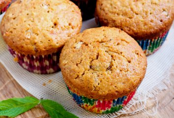 three grain healthy muffin