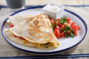 A Vegetable Quesadilla Recipe Tasty Vegetarian Main Course Recipes Cookingnook Com