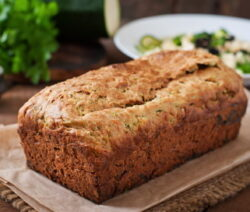 Whole baked zucchini bread